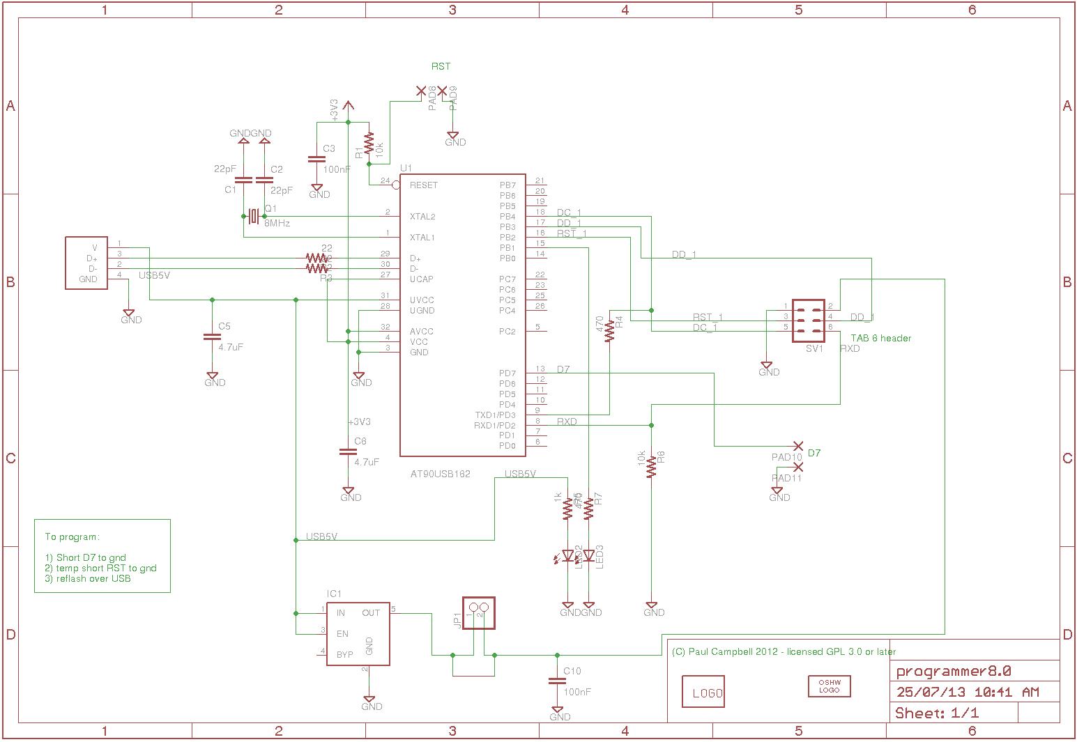 Simple Programmer/Serial Board